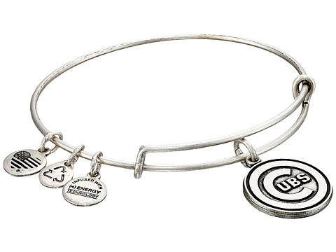 Alex and Ani MLB® Chicago Cubs Charm Bangle - Rafaelian Silver Finish