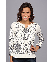 Lucky Brand - Aztec Embroidered Pullover