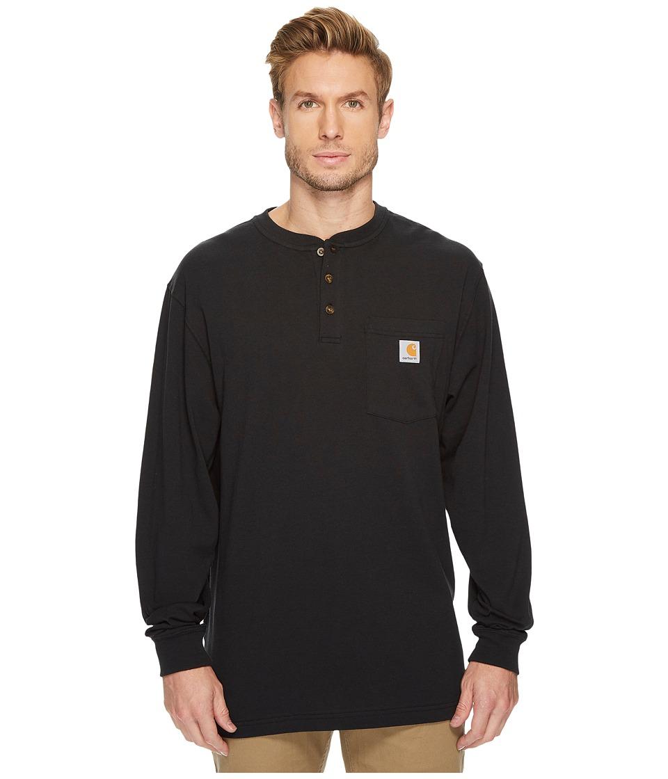 Carhartt - Workwear Pocket L/S Henley (Black) Mens Long Sleeve Pullover