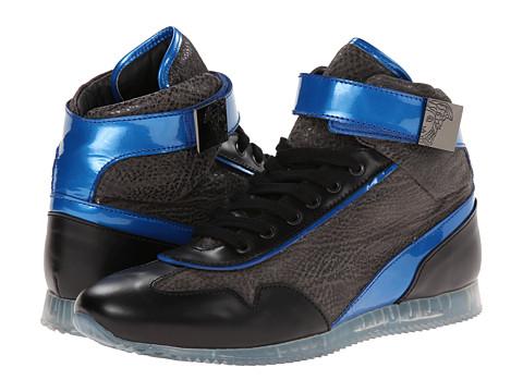 Versace Collection Galvanic Gunmetal Hi-Top Sneaker Metallic