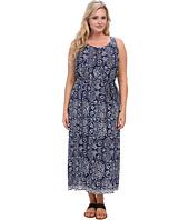 Vince Camuto Plus - Plus Size S/L Key Hole Java Block Maxi Dress