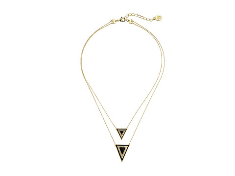 House of Harlow 1960 Teepee Triangle Necklace - Gold Tone/Black