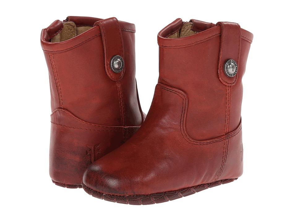 Frye Kids Melissa Button Bootie Infant/Toddler Burnt Red Kids Shoes