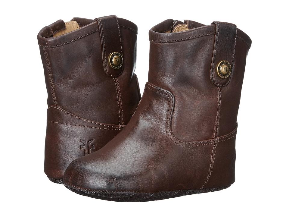 Frye Kids Melissa Button Bootie Infant/Toddler Dark Brown Kids Shoes