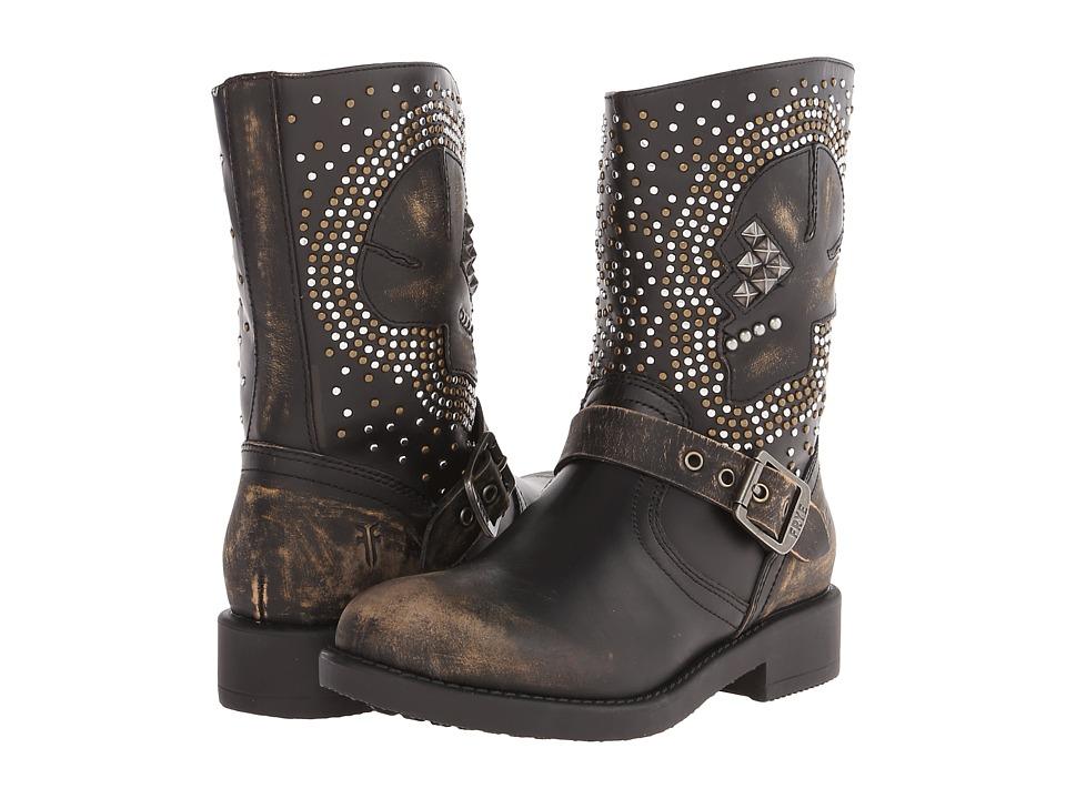 Frye Kids Jenna Skull Short Little Kid/Big Kid Black Girls Shoes