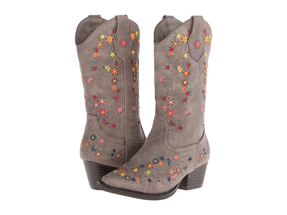Roper Kids Ditzy Floral Rockstar Toddler/Little Kid Brown Cowboy Boots
