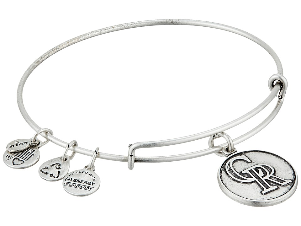 Alex and Ani - MLB(r) Colorado Rockies Charm Bangle (Rafaelian Silver Finish) Bracelet