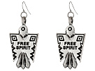 Gypsy SOULE - Free Spirit Thunderbird Drop Earrings (Silver)