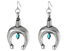 Gypsy SOULE - Squashblossom Horseshoe Drop Earrings (Silver)