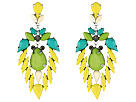 Gypsy SOULE - Bejeweled Statement Drop Earrings (Lime/Turquoise)