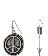 Gypsy SOULE - Arrow & Peace 2-Pair Earring Set