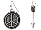 Gypsy SOULE - Arrow Peace 2-Pair Earring Set (Silver)