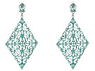Gypsy SOULE - Diamond Filagree Drop Earrings (Turquoise/Silver)