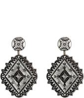 Gypsy SOULE - Diamond Framed Concho Drop Earrings