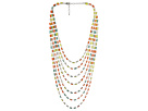 Gypsy SOULE - 7-Strand Layered Necklace (Truquoise/Yellow/Orange/White)