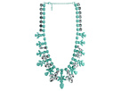Gypsy SOULE - Painted Jewel Crystal Necklace (Turquoise/Clear)