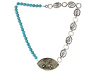 Gypsy SOULE Brave Concho Necklace (Silver/Turquoise)