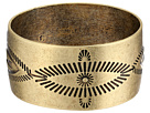 Gypsy SOULE Antiqued Etched Wide Bangle (Gold)