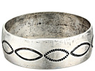 Gypsy SOULE Antiqued Etched Bangle (Silver)