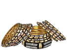 Gypsy SOULE - Mixed Metal 14 Bangle Set (Silver/Gold/Copper)