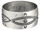 Gypsy SOULE - Antiqued Etched Wide Bangle (Silver)