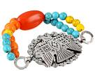 Gypsy SOULE Thunderbird Concho Beaded Bracelet (Silver/Multi)