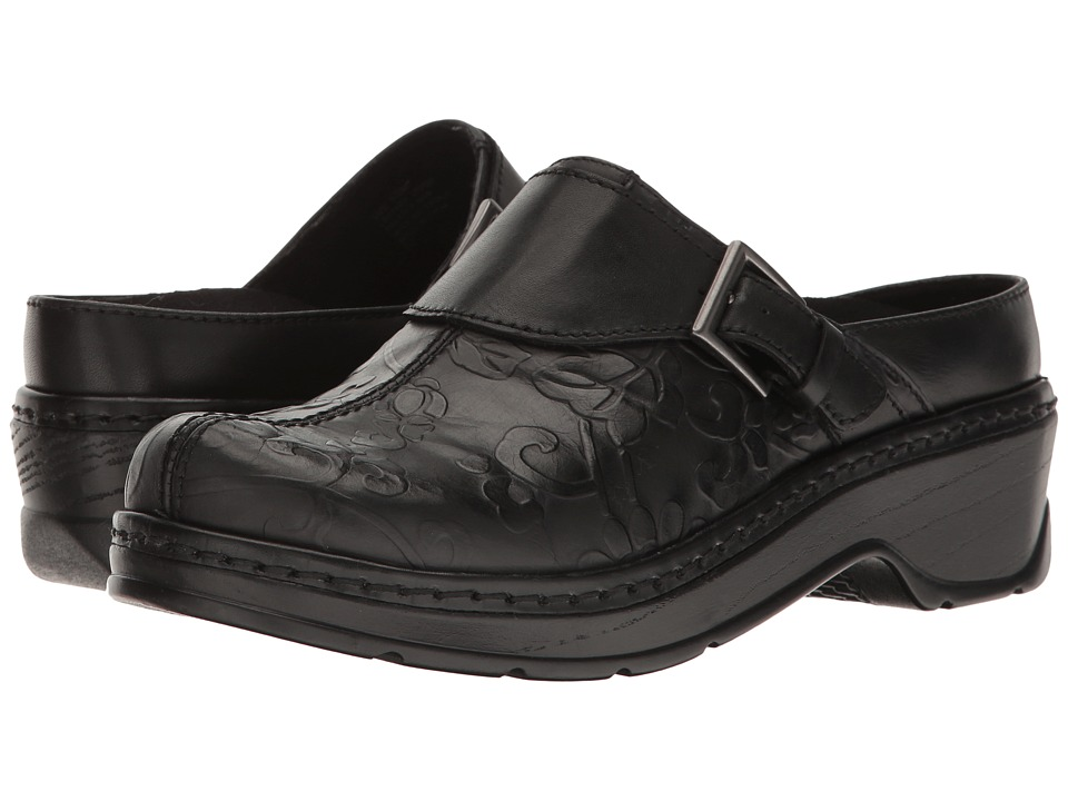 Klogs Footwear Austin (Black Flower Tool) Women's Clogs