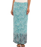 Mod-o-doc - Floral Burnout Rib Long Skirt
