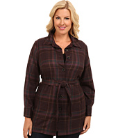 Pendleton - Plus Size Belted Shirt Jacket