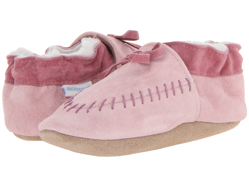 Robeez - Cozy Moccasin Soft Soles (Infant/Toddler) (Pink) Girls Shoes
