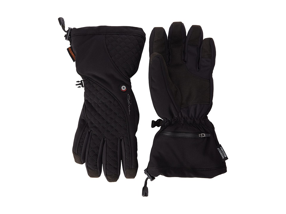 Seirus Heat Touch Glow Glove Black Extreme Cold Weather Gloves