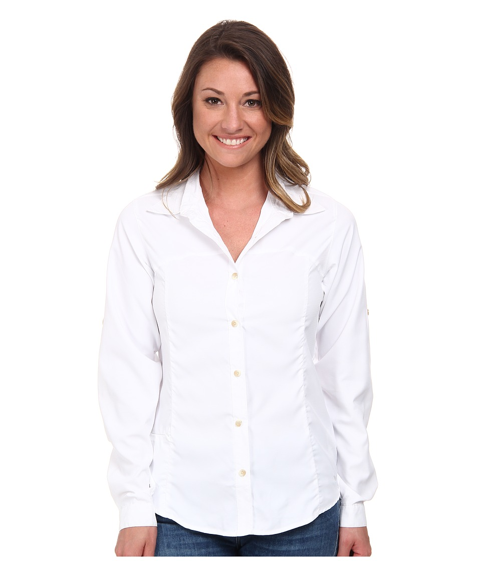 White Sierra - Gobi Desert Long Sleeve Shirt (White) Womens Long Sleeve Button Up