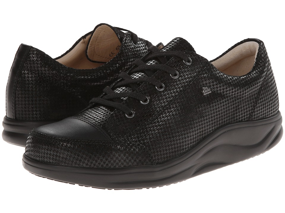 Finn Comfort Ikebukuro Black Hardy/Nappa Womens Lace up casual Shoes