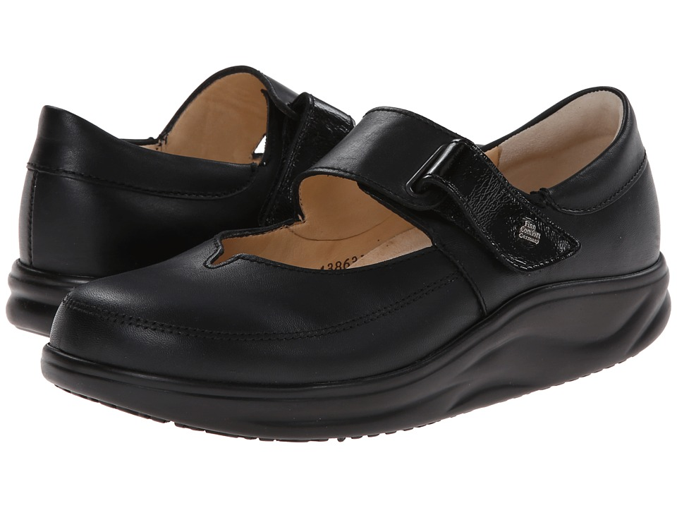 Finn Comfort - Nagasaki (Black Nappa/Patent) Womens Shoes