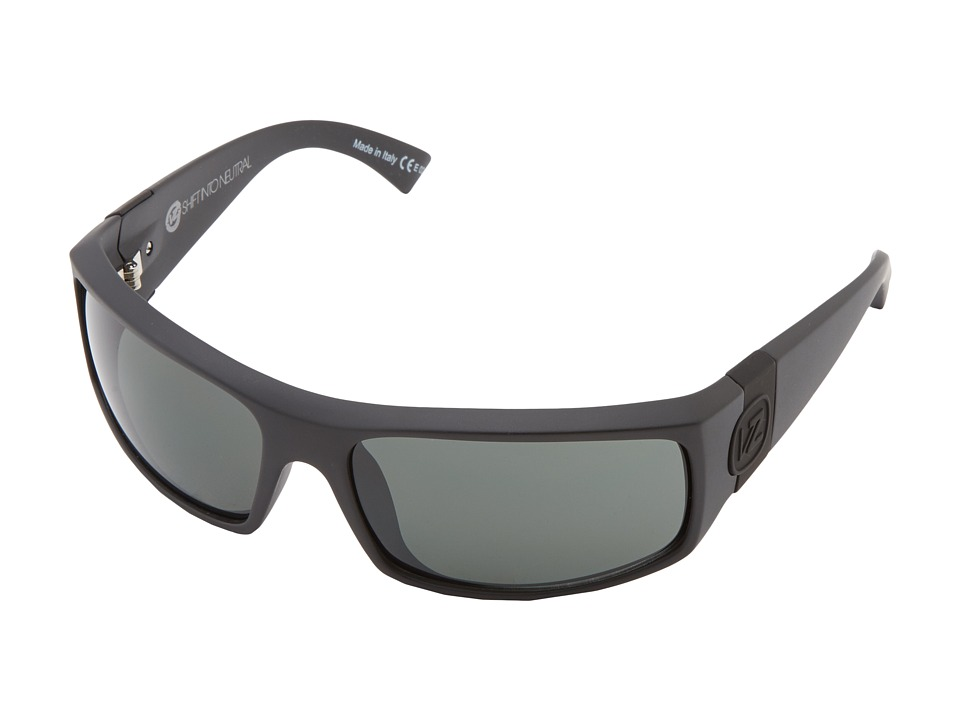 VonZipper - Kickstand (SIN Black Satin/Grey) Sport Sunglasses