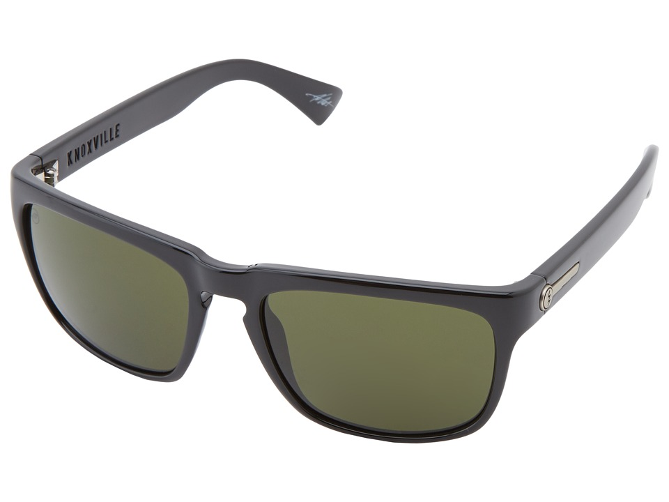 Electric Eyewear Knoxville Polarized (Gloss Black/M Grey) Sport Sunglasses