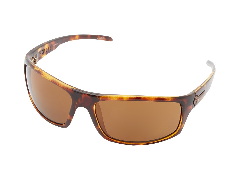 Electric Eyewear - Tech One Polarized (Tortoise Shell/M1 Bronze Polar) Plastic Frame Sport Sunglasses