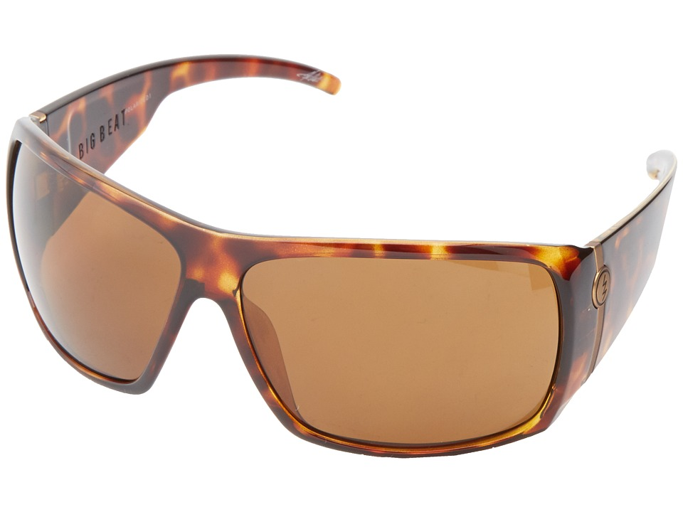 Electric Eyewear Big Beat Tortoise Shell/M1 Bronze Polar Plastic Frame Sport Sunglasses