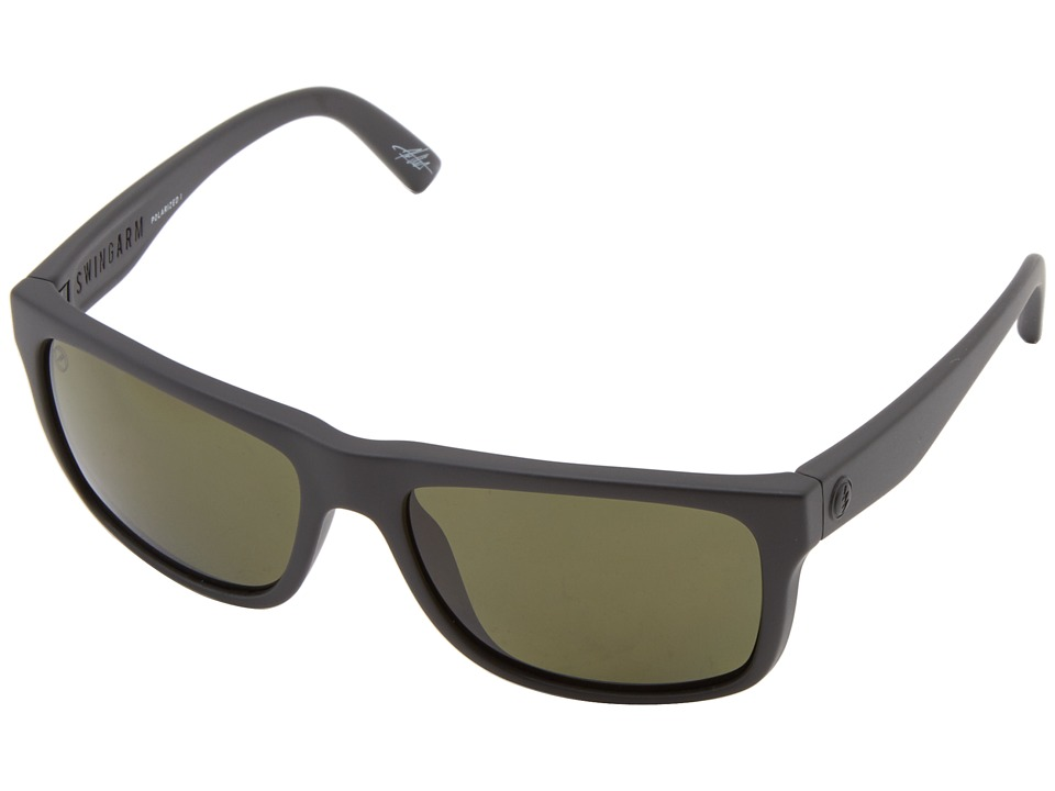 Electric Eyewear - Swingarm Polarized (Matte Black/M1 Grey Polar) Sport Sunglasses