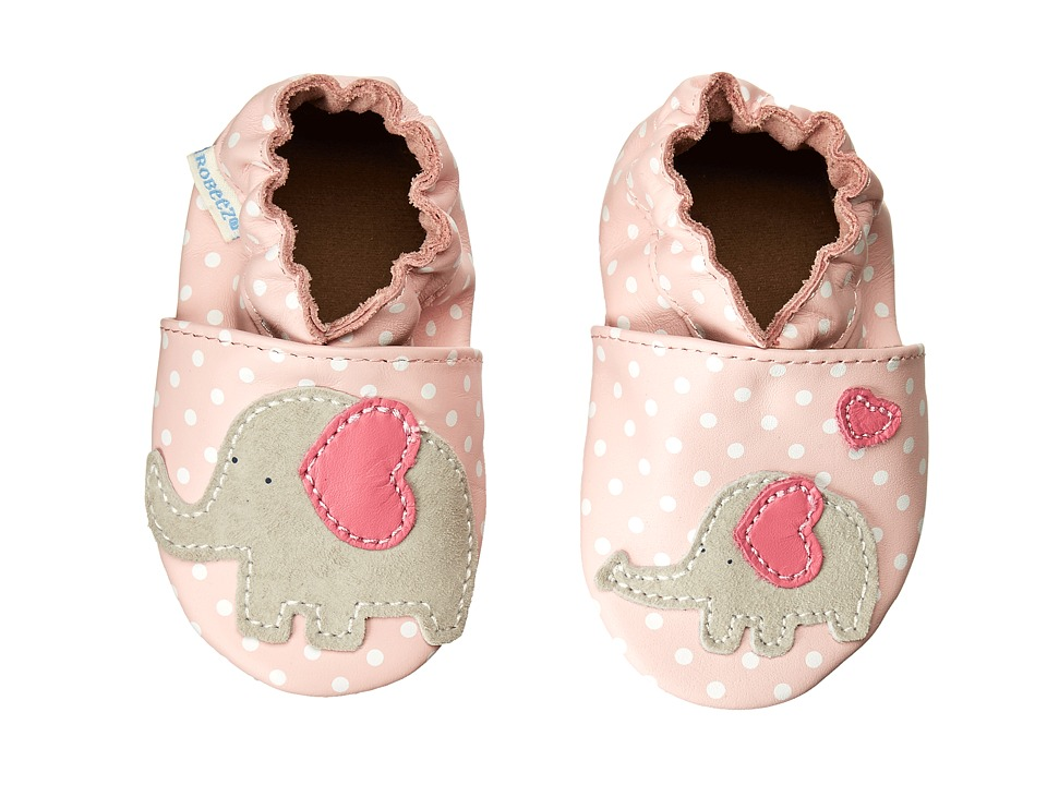 Robeez - Little Peanut Soft Soles (Infant/Toddler) (Pastel Pink) Girls Shoes