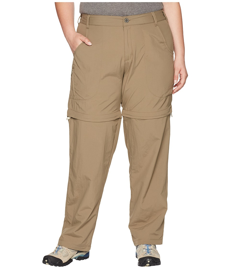 White Sierra - Plus Size Sierra Point Convertible Pant (Bark) Womens Casual Pants