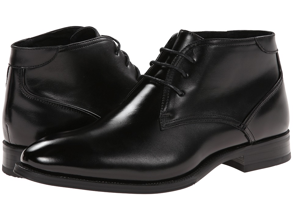Stacy Adams - Kyle Black Leather Mens Lace-up Boots $100.00 AT vintagedancer.com