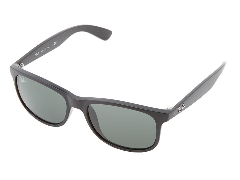 Ray-Ban - RB4202 Andy 55mm (Shiny Black) Fashion Sunglasses