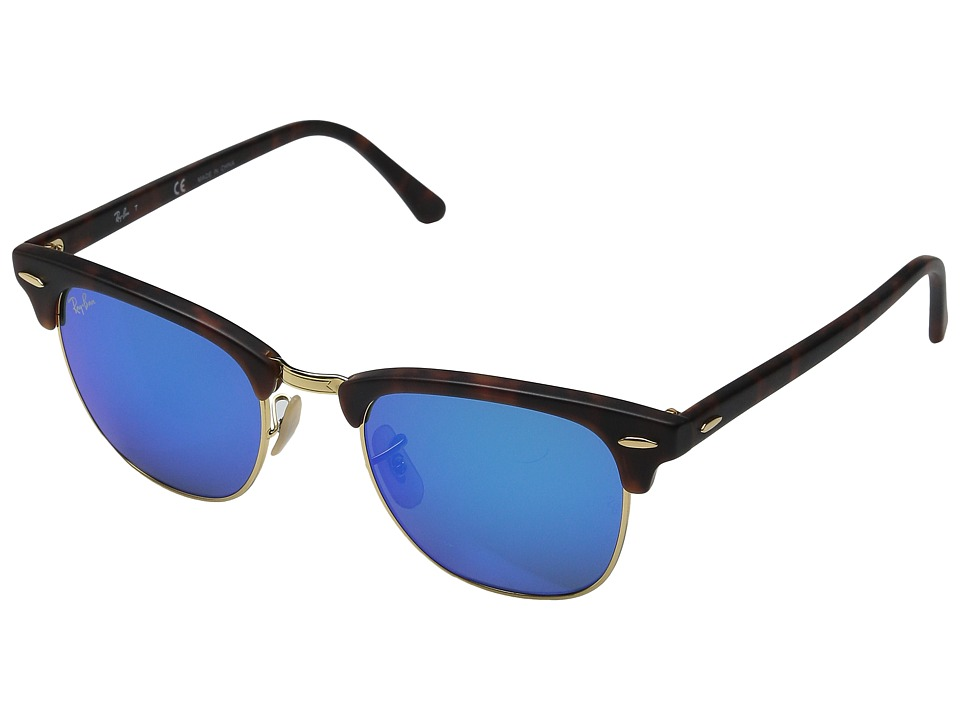 Ray-Ban - RB3016 Clubmaster 49mm (Grey Mirror Blue) Fashion Sunglasses