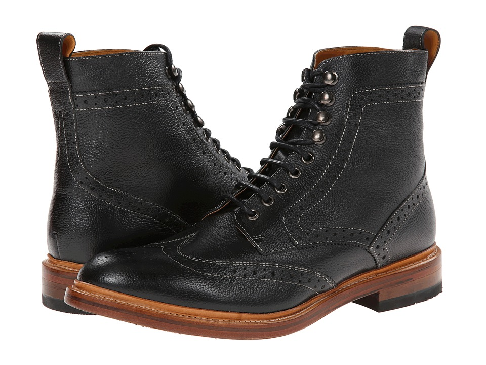 Men's Steampunk Costume Essentials Stacy Adams - Madison II Wingtip Black Milled Leather Mens Lace Up Wing Tip Shoes $180.00 AT vintagedancer.com