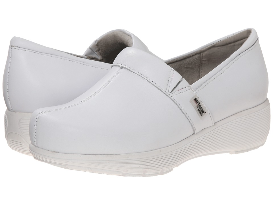 SoftWalk Meredith White Box Leather Womens Slip on Shoes