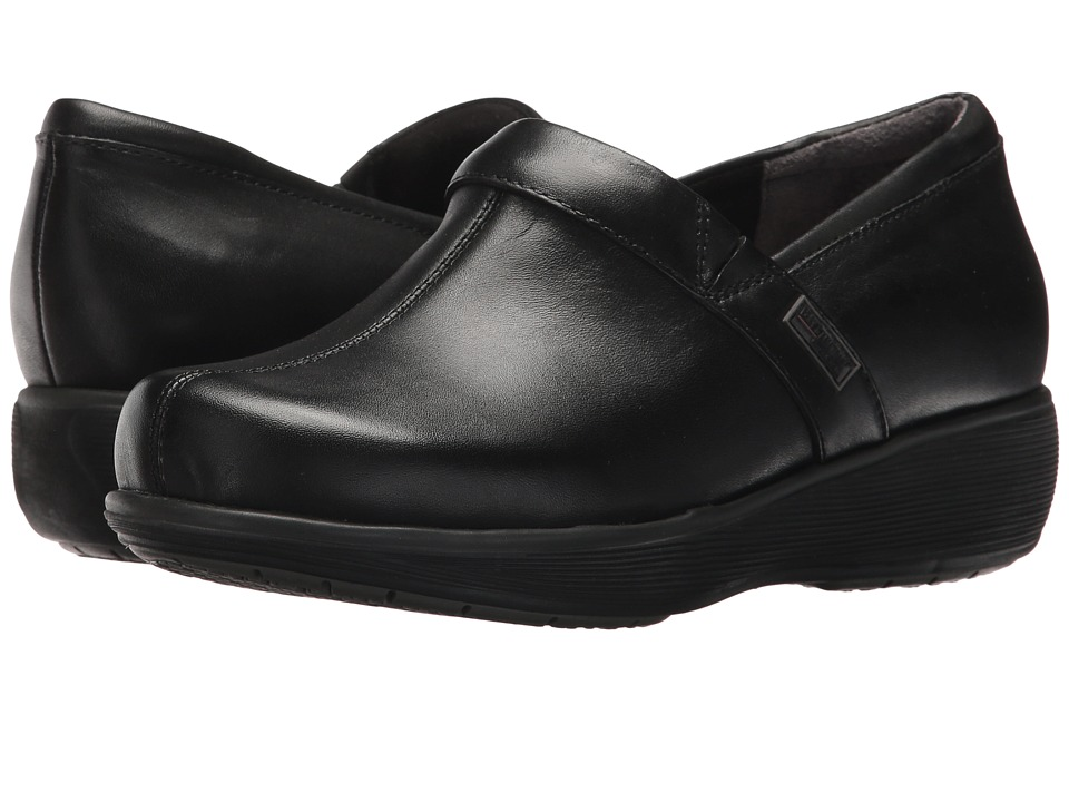 SoftWalk Meredith Black Box Leather Womens Slip on Shoes