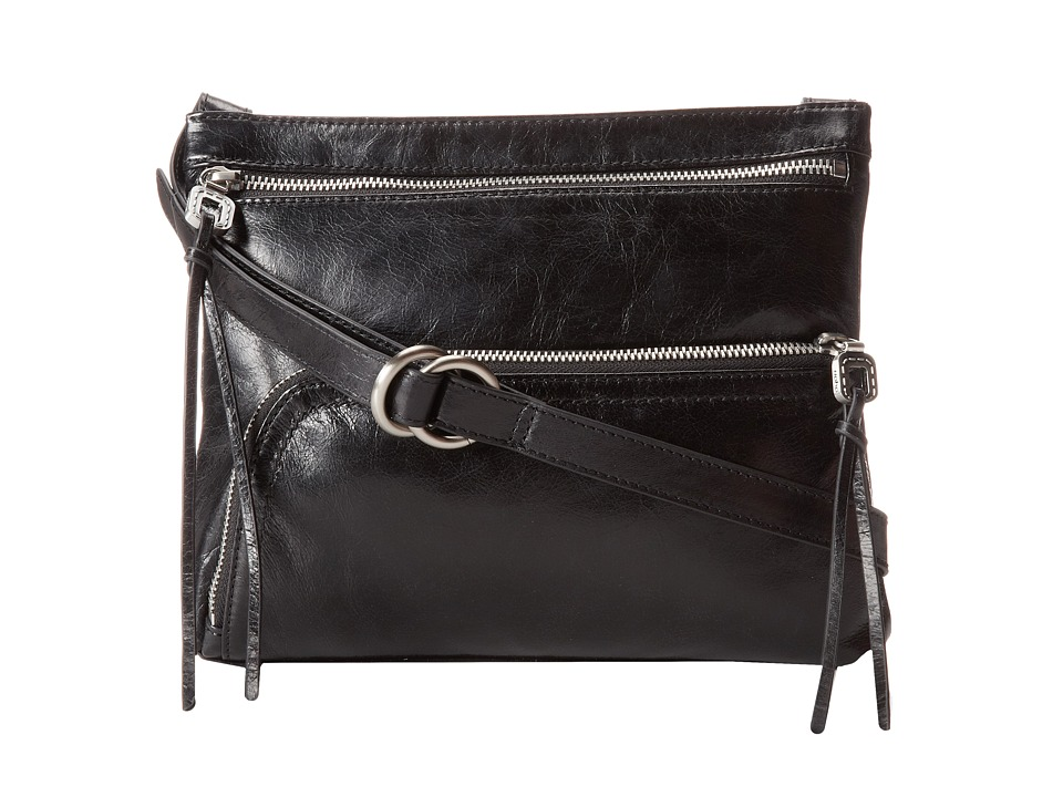 Hobo Cassie (Black Vintage Leather) Cross Body Handbags