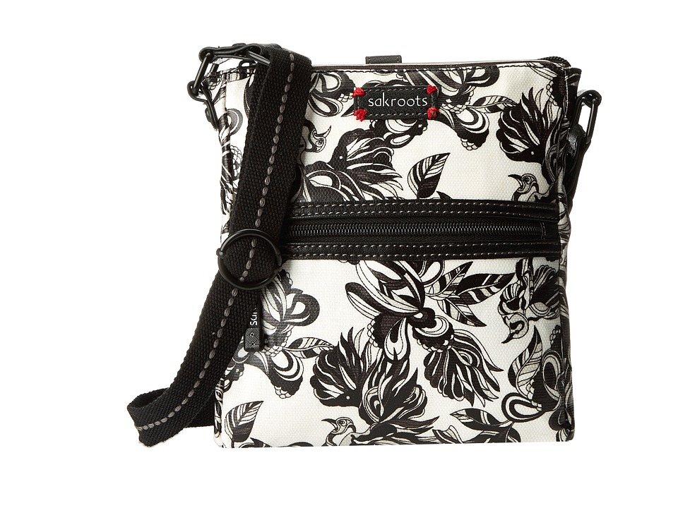 Sakroots Artist Circle Tablet Crossbody (Mist Treehouse) Cross Body Handbags