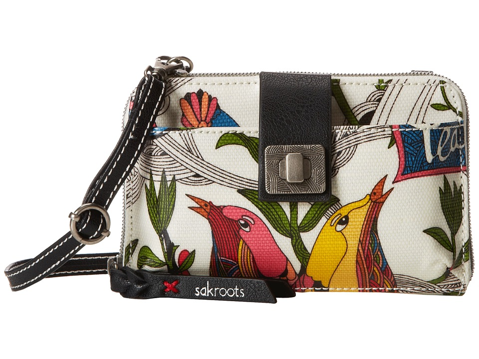 Sakroots - Artist Circle Smartphone Crossbody (White Peace) Cross Body Handbags
